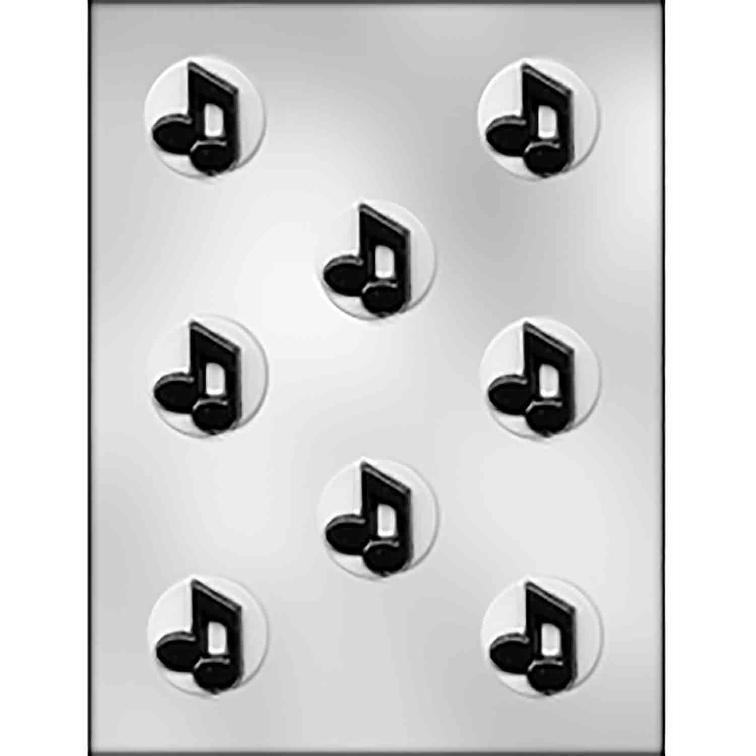 Music Notes on Circle Chocolate Candy Mold