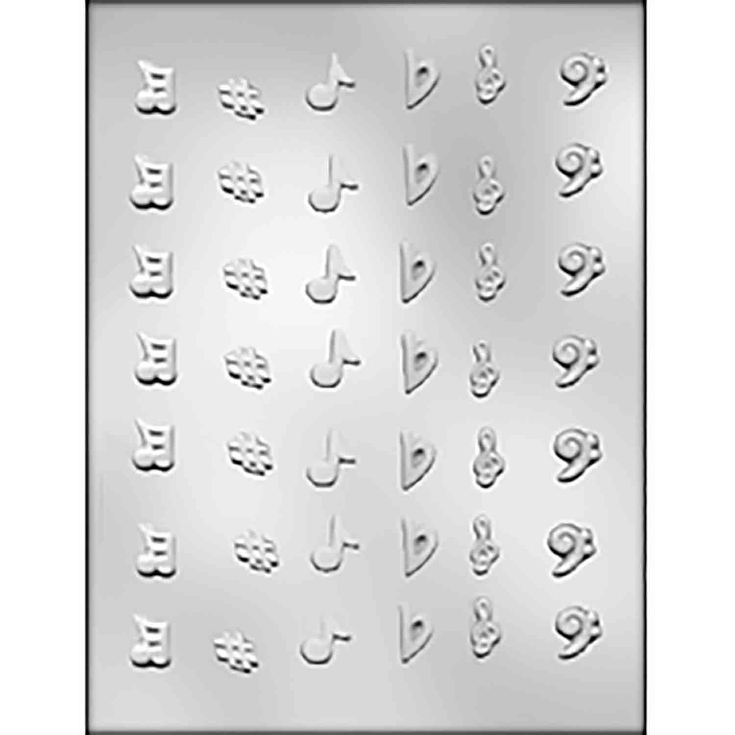 Music Notes Lay-Ons Chocolate Candy Mold