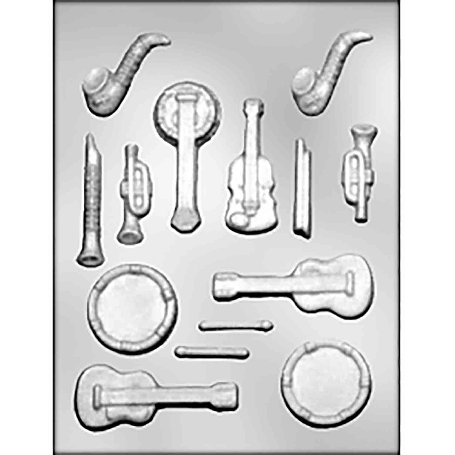 Musical Instruments Chocolate Candy Mold
