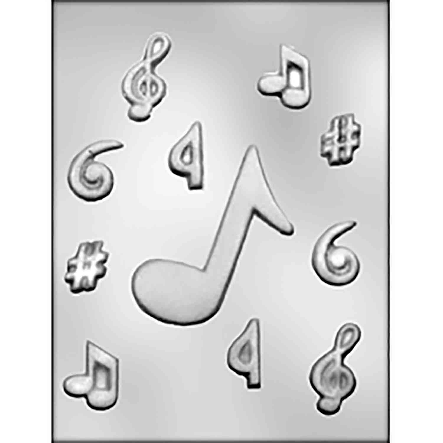 Large Music Notes Chocolate Candy Mold