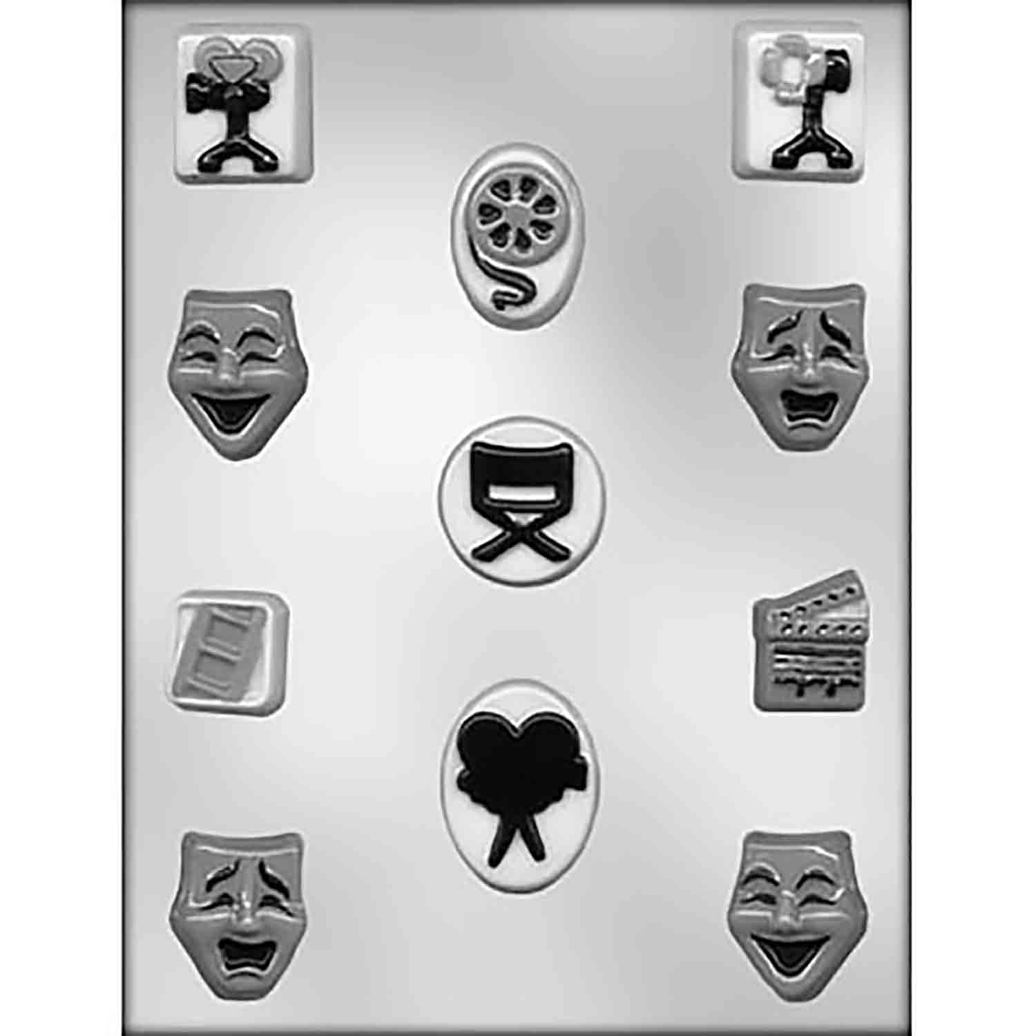 Theater Assortment Chocolate Candy Mold