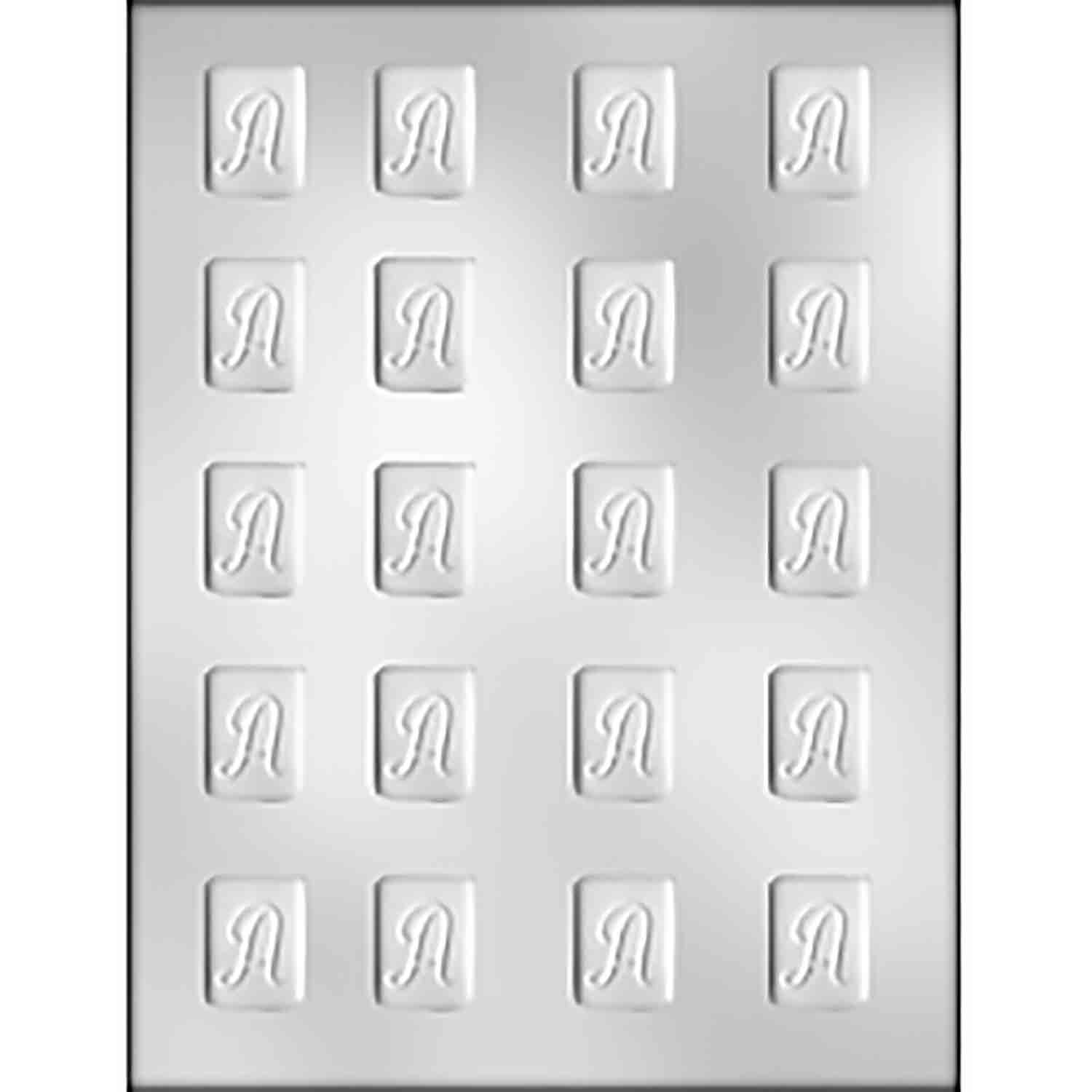 """Initial Mint """"A"""" Chocolate Candy Mold"""