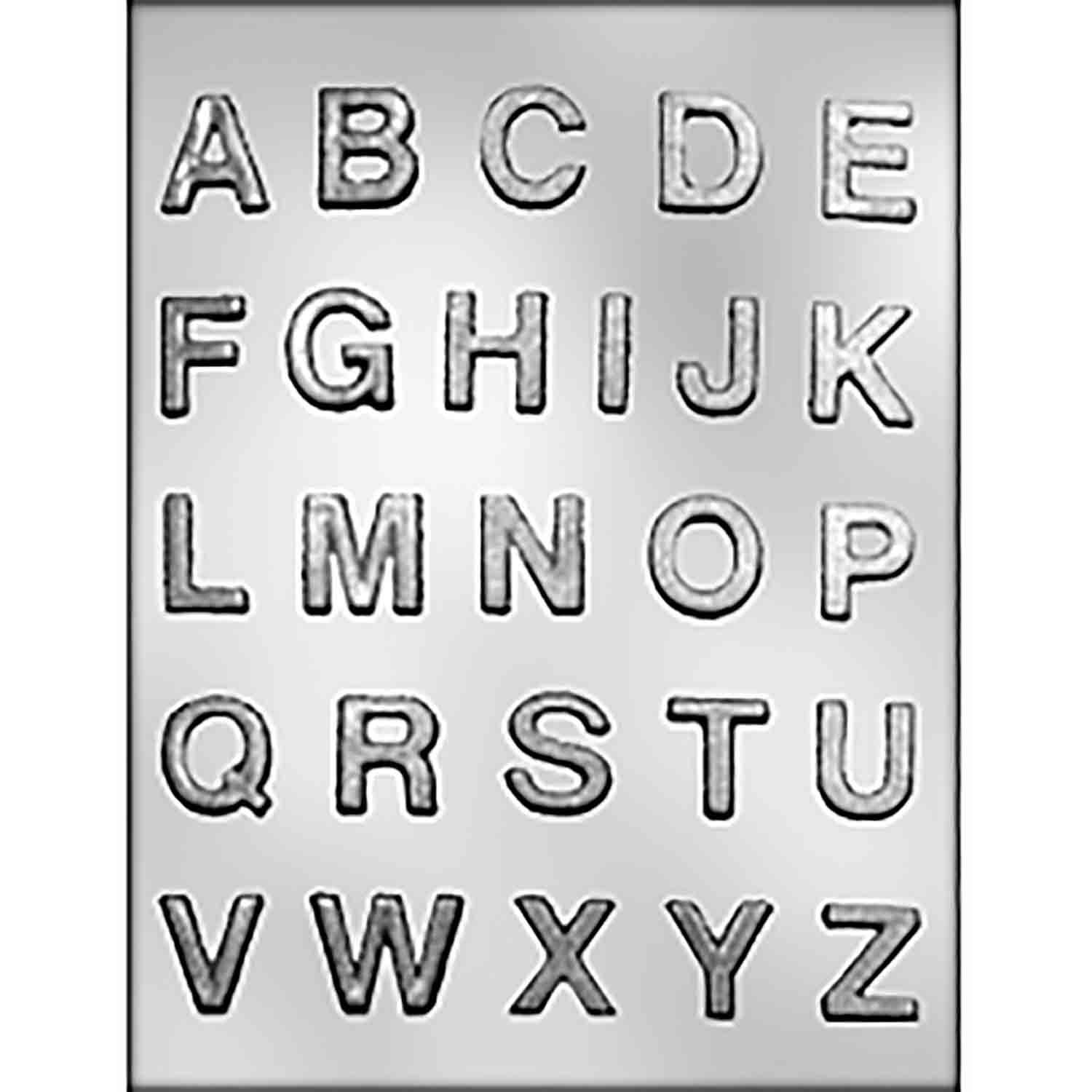 Small Alphabet Block Letters Chocolate Candy Mold