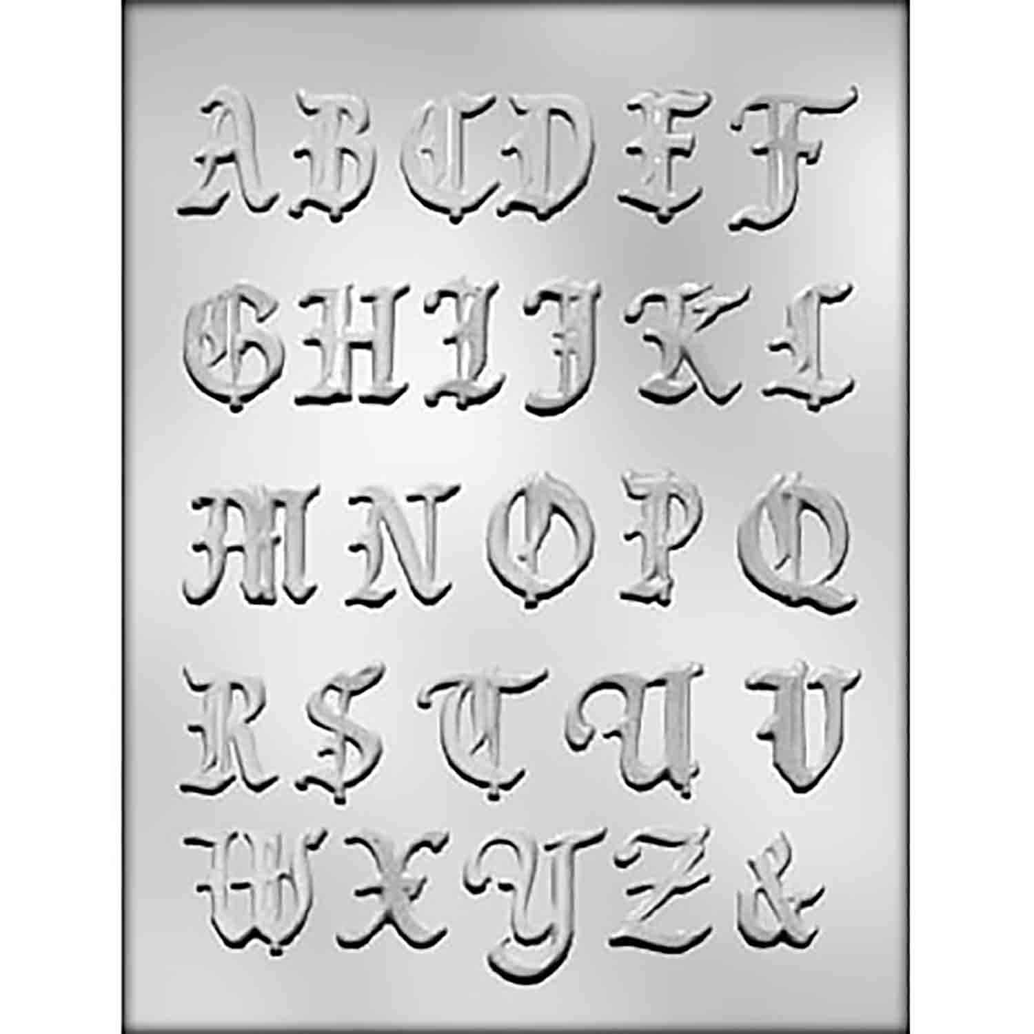 Alphabet Chocolate Candy Mold