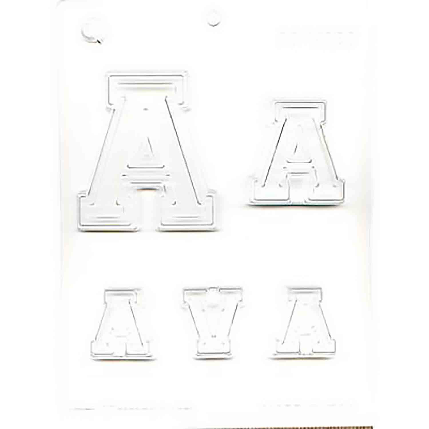 Collegiate Letter A Chocolate Candy Mold