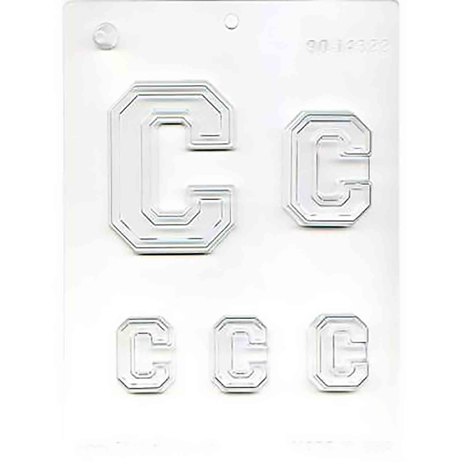 Collegiate Letter C Chocolate Candy Mold
