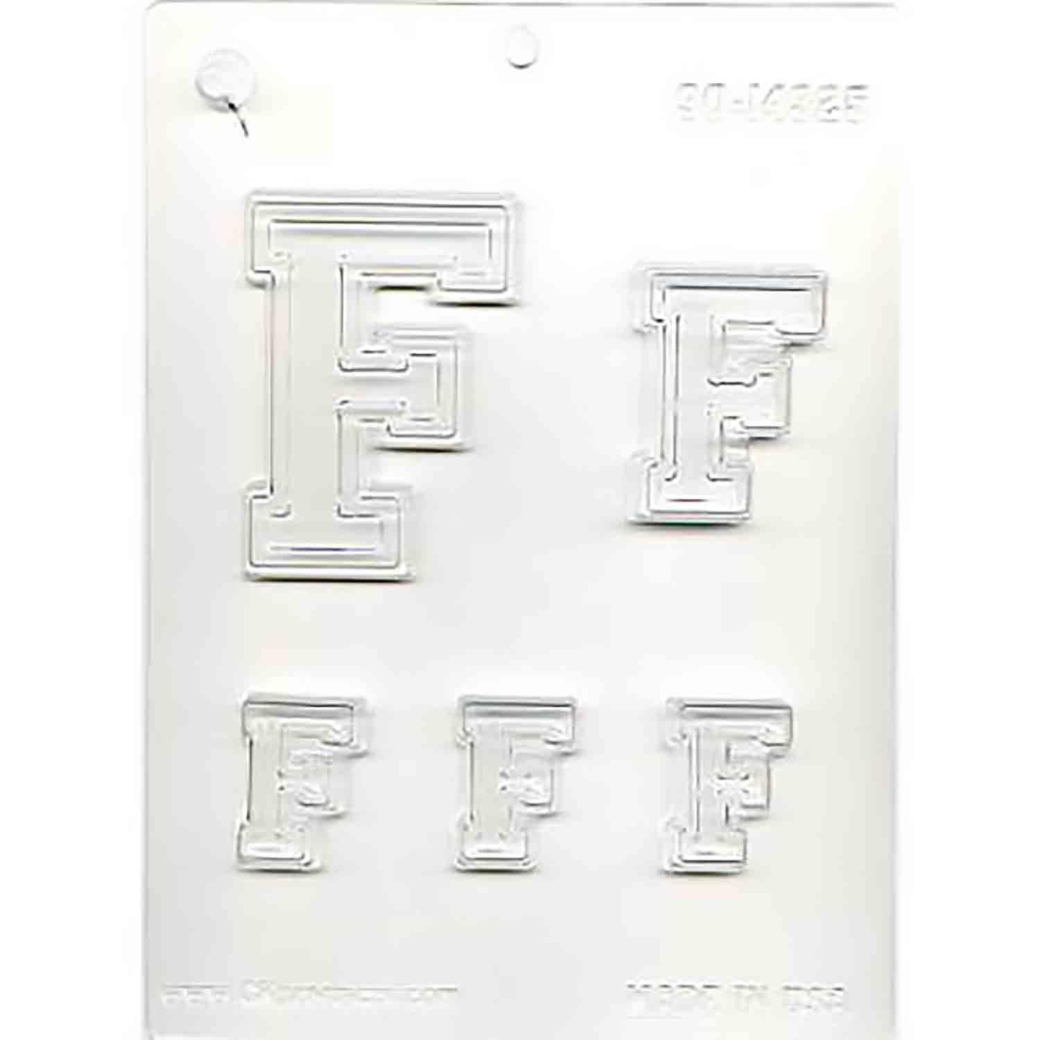 Collegiate Letter F Chocolate Candy Mold