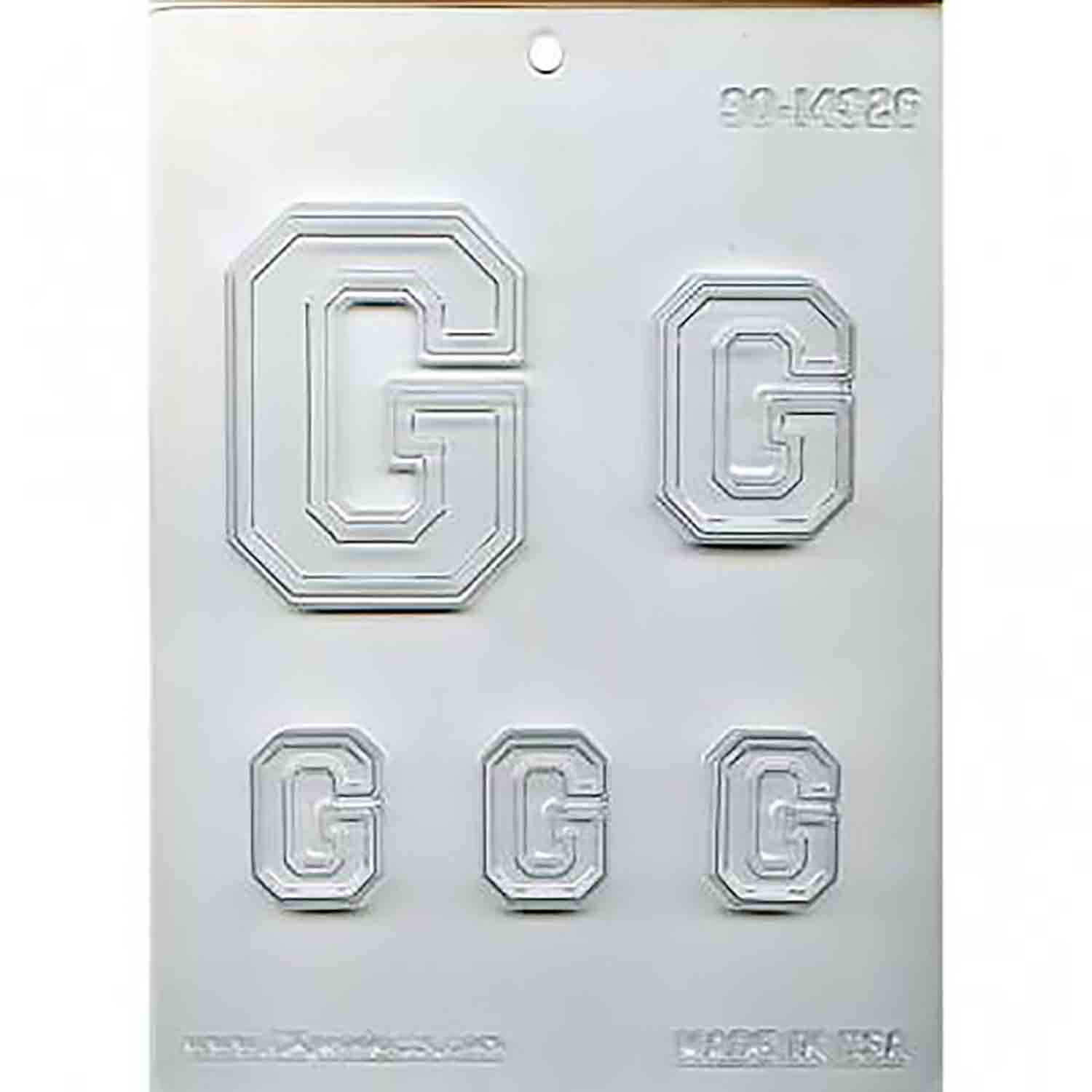 Collegiate Letter G Chocolate Candy Mold