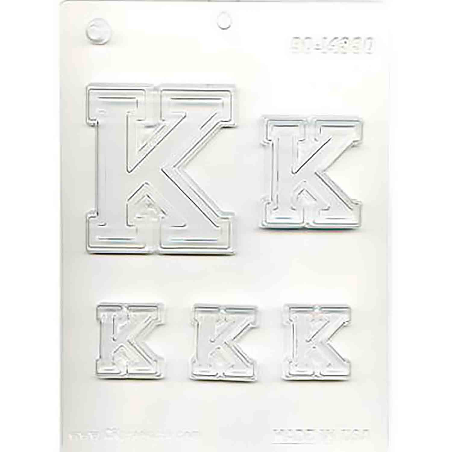 Collegiate Letter K Chocolate Candy Mold