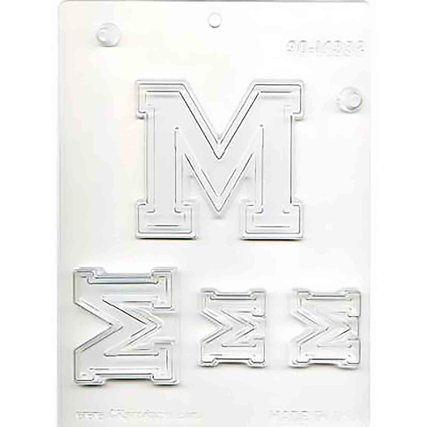 Collegiate Letter M Chocolate Candy Mold
