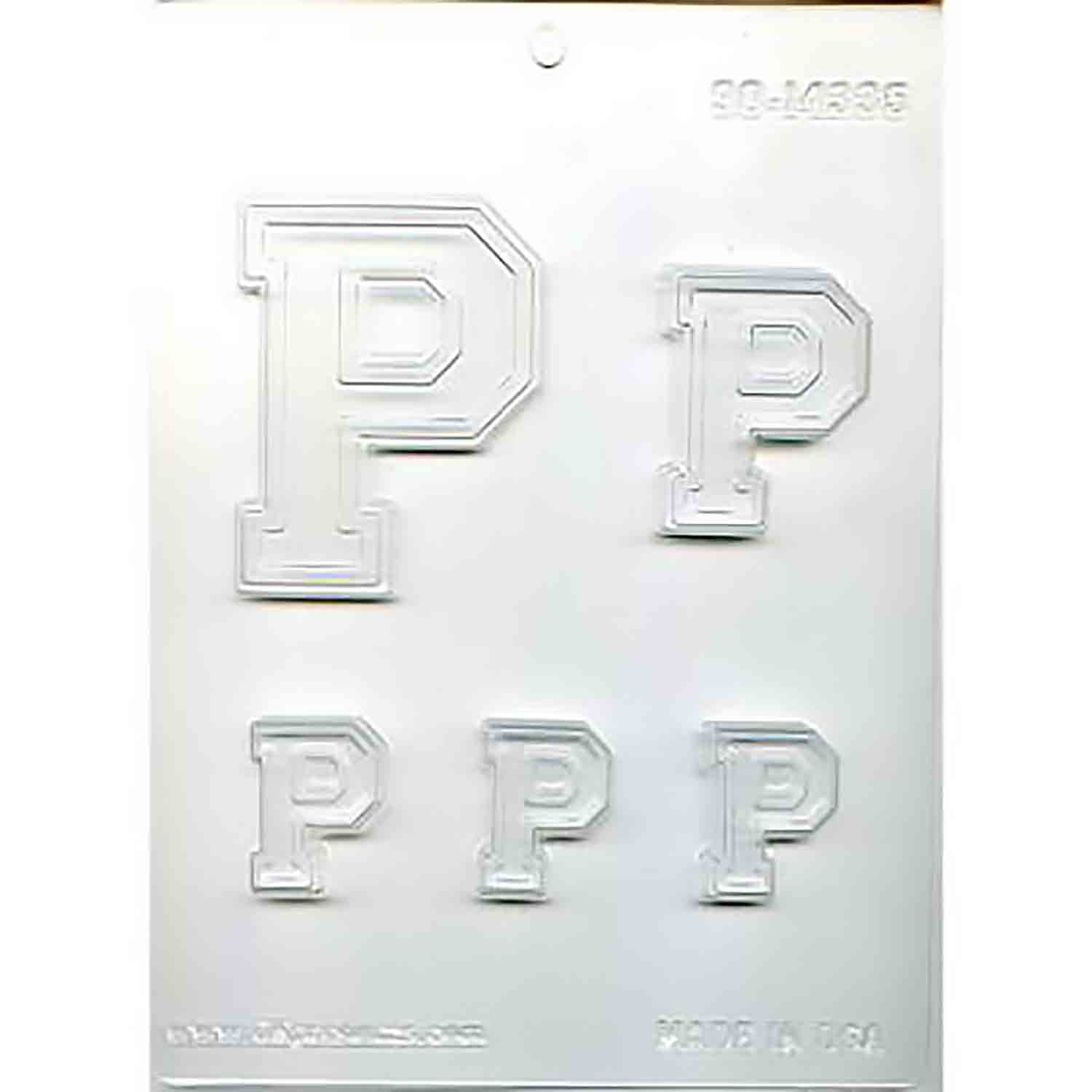 Collegiate Letter P Chocolate Candy Mold