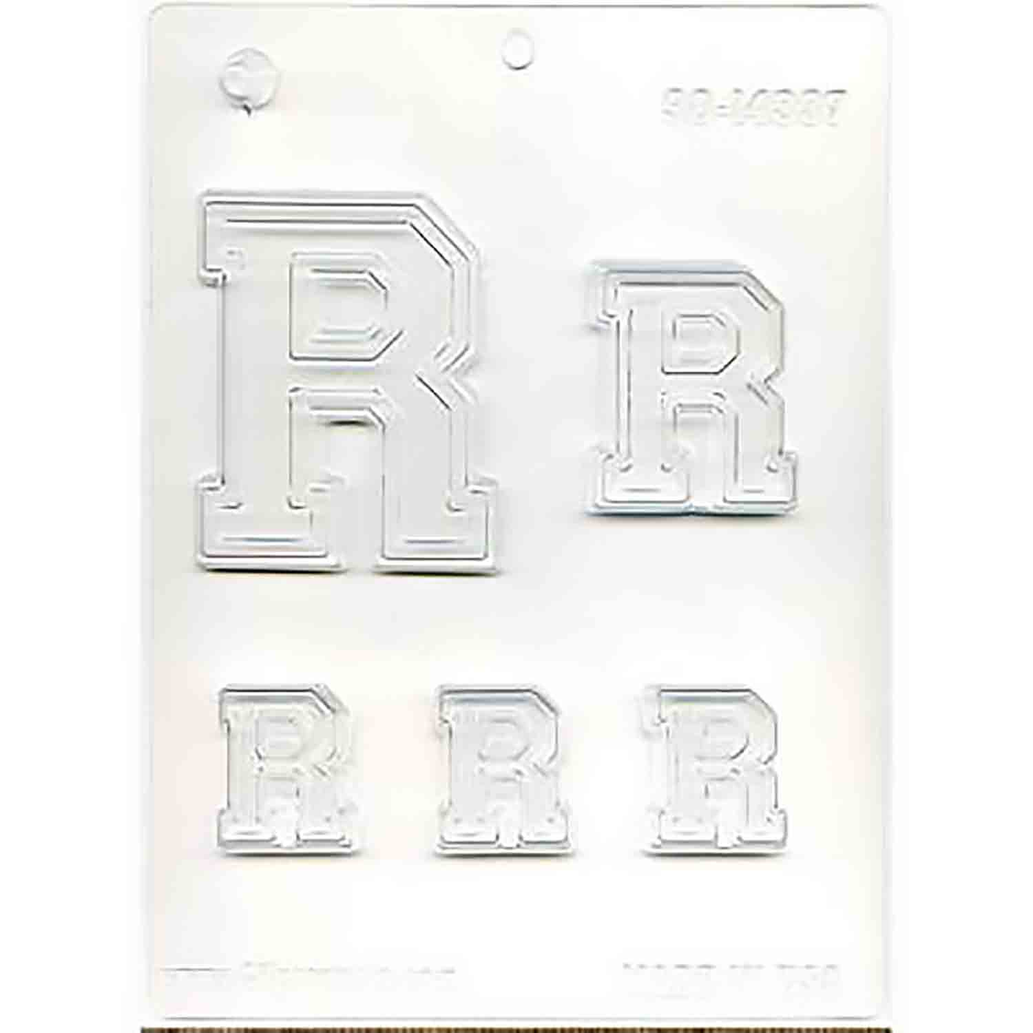 Collegiate Letter R Chocolate Candy Mold