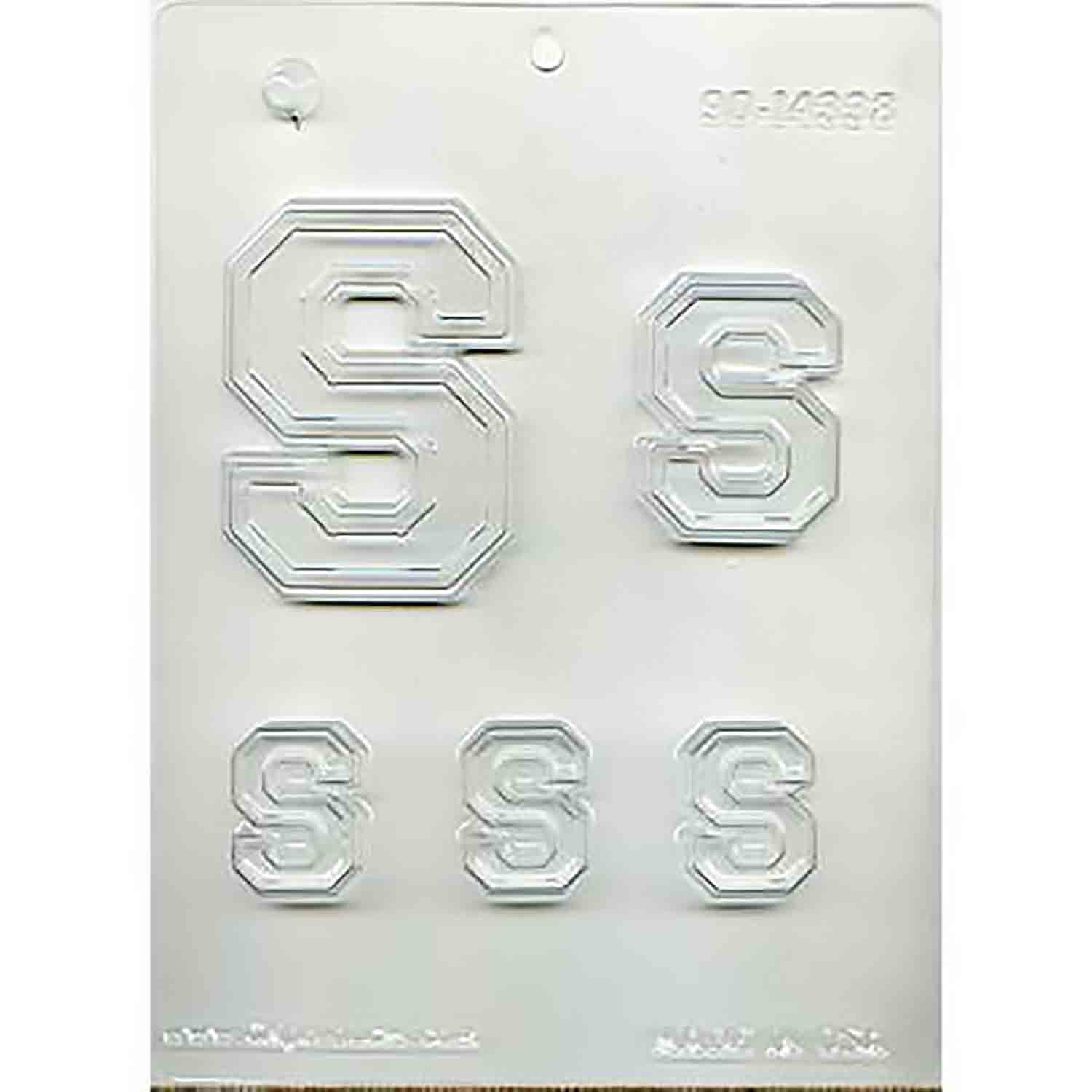 Collegiate Letter S Chocolate Candy Mold