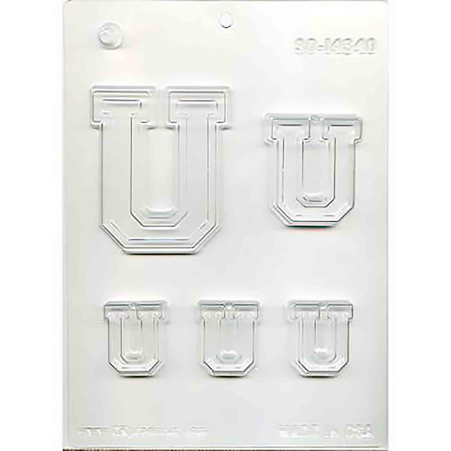 Collegiate Letter U Chocolate Candy Mold