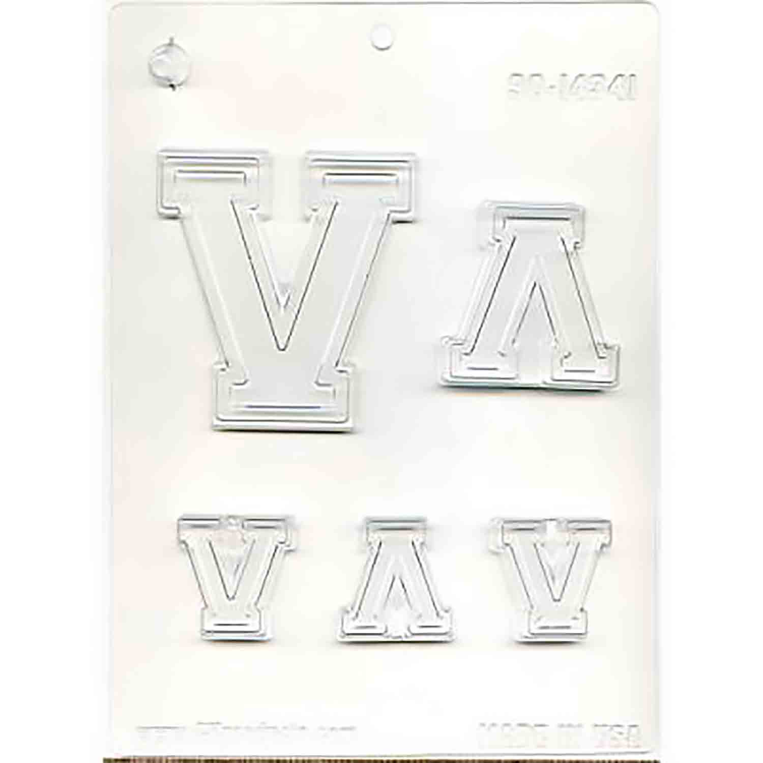 Collegiate Letter V Chocolate Candy Mold