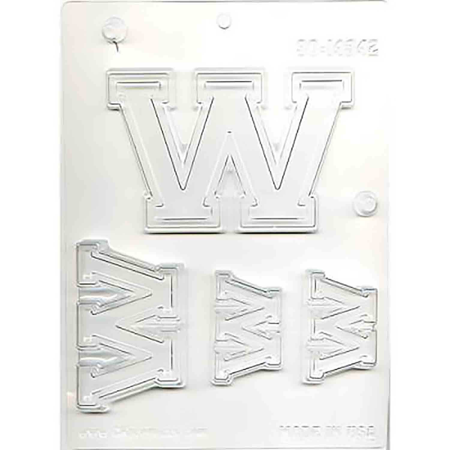 Collegiate Letter W Chocolate Candy Mold