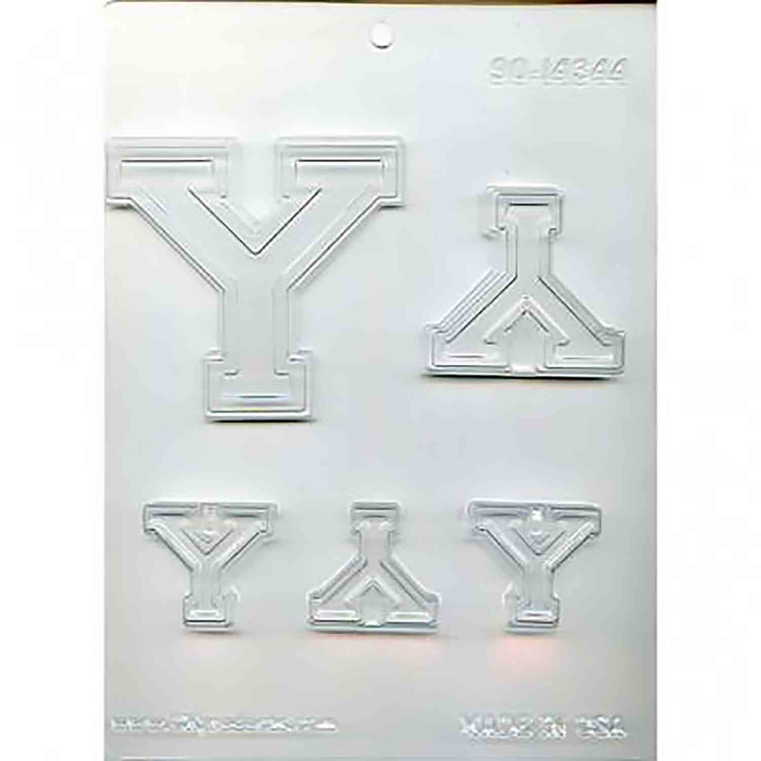 Collegiate Letter Y Chocolate Candy Mold