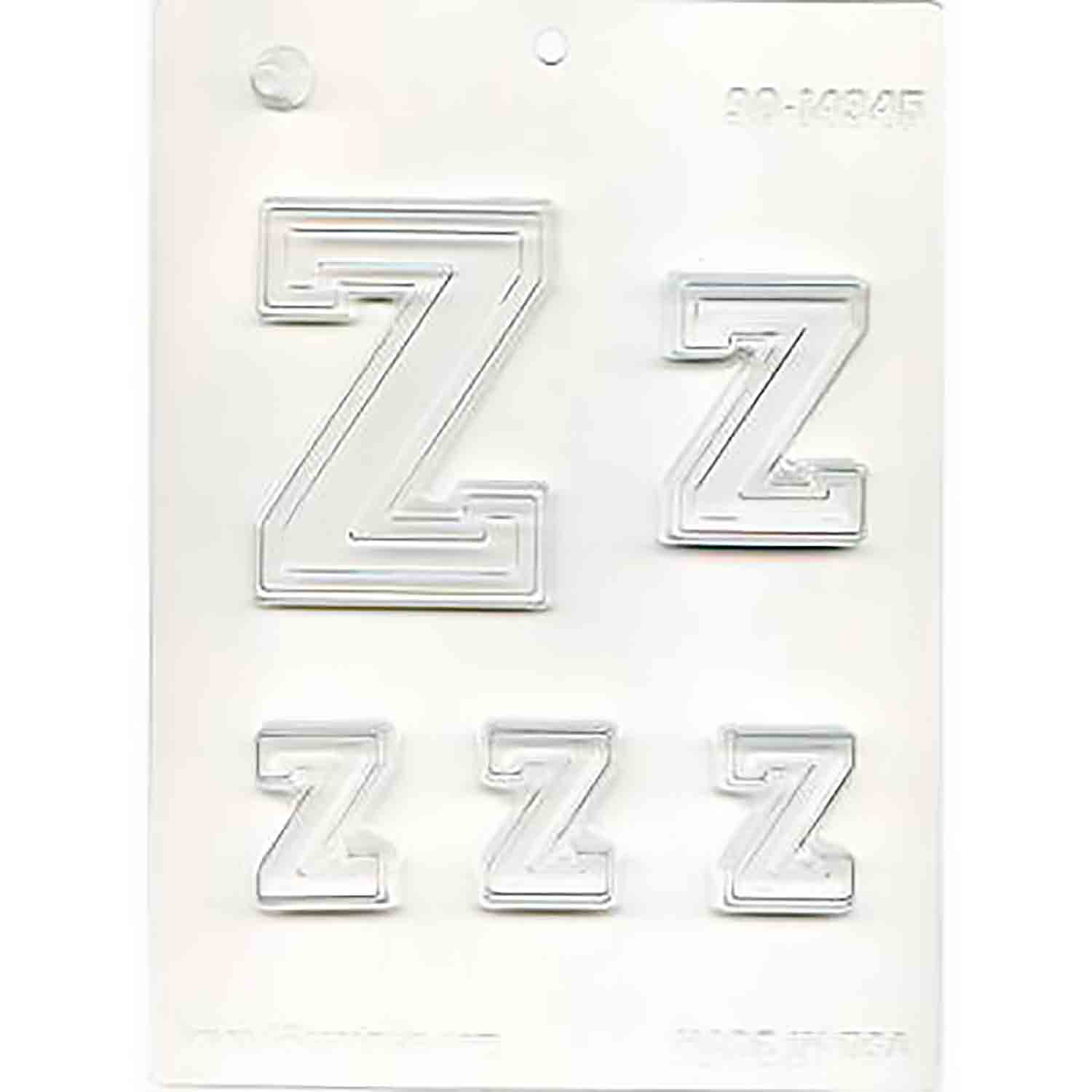 Collegiate Letter Z Chocolate Candy Mold
