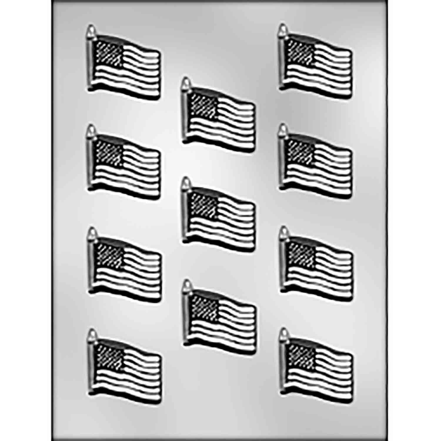 Small American Flag Chocolate Candy Mold
