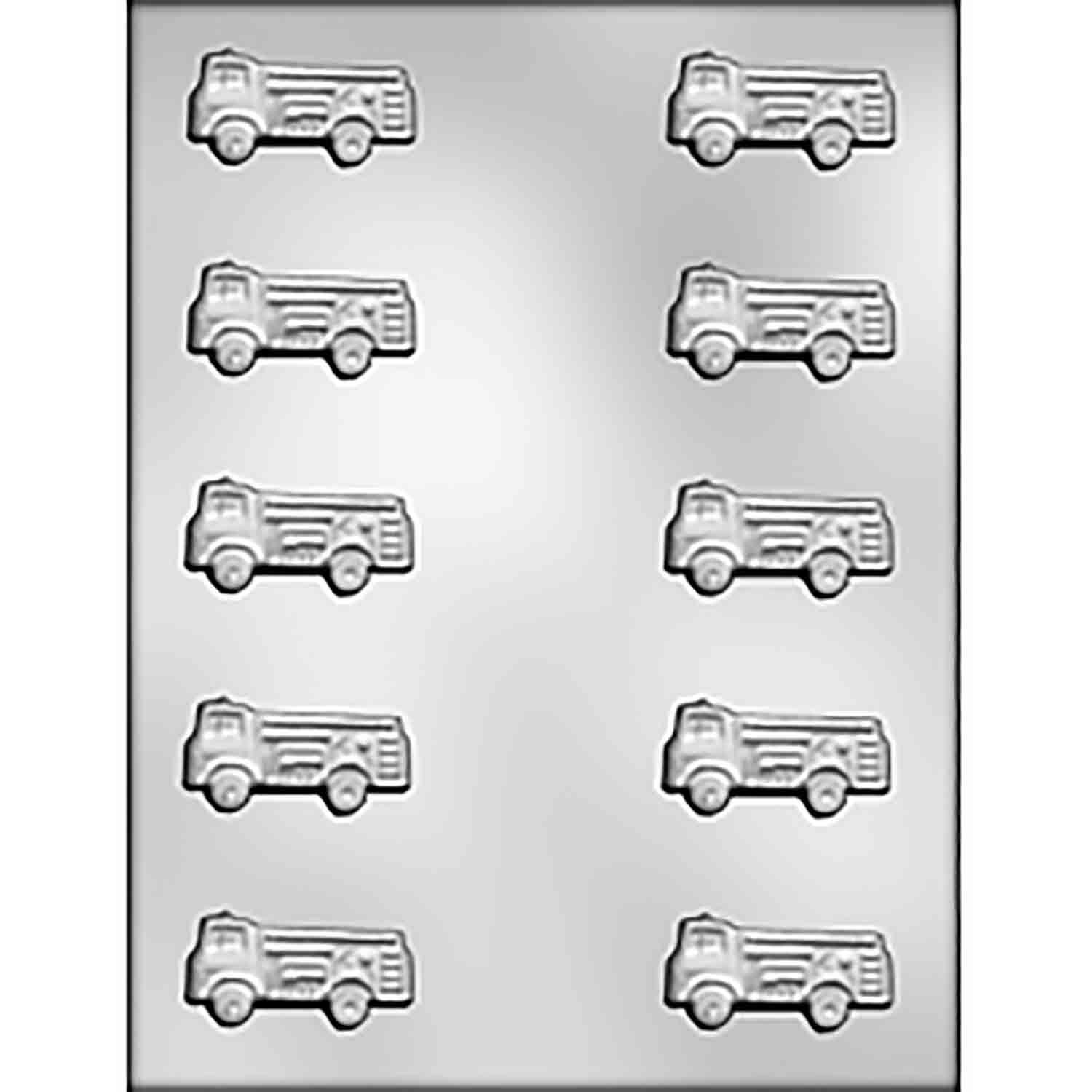 Fire Truck Chocolate Candy Mold