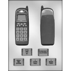 3D Cell Phone w/ Messages Chocolate Candy Mold
