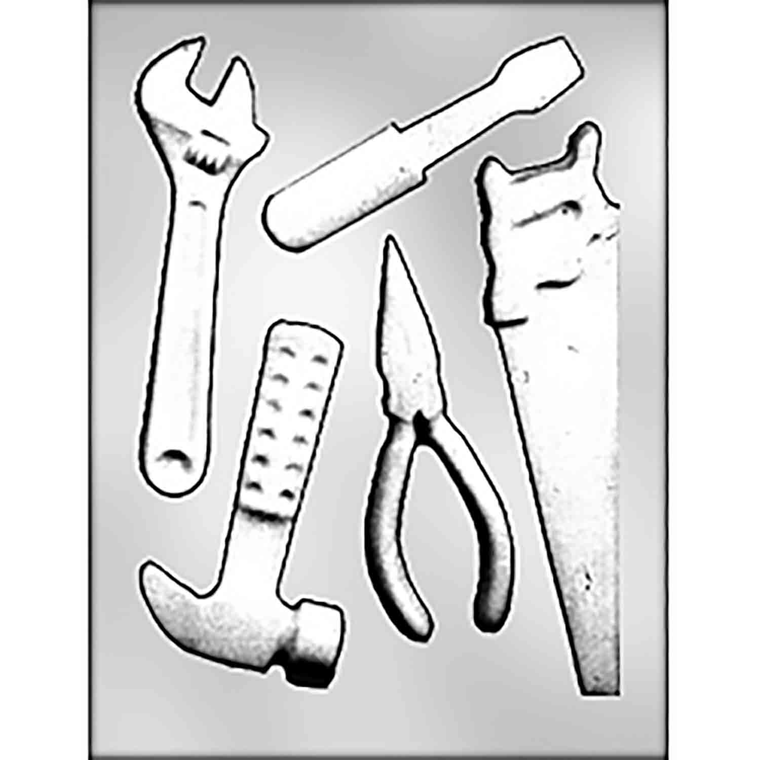 Carpenter Tools Chocolate Candy Mold