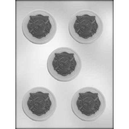 Fire Department Logo / Circle Chocolate Candy Mold