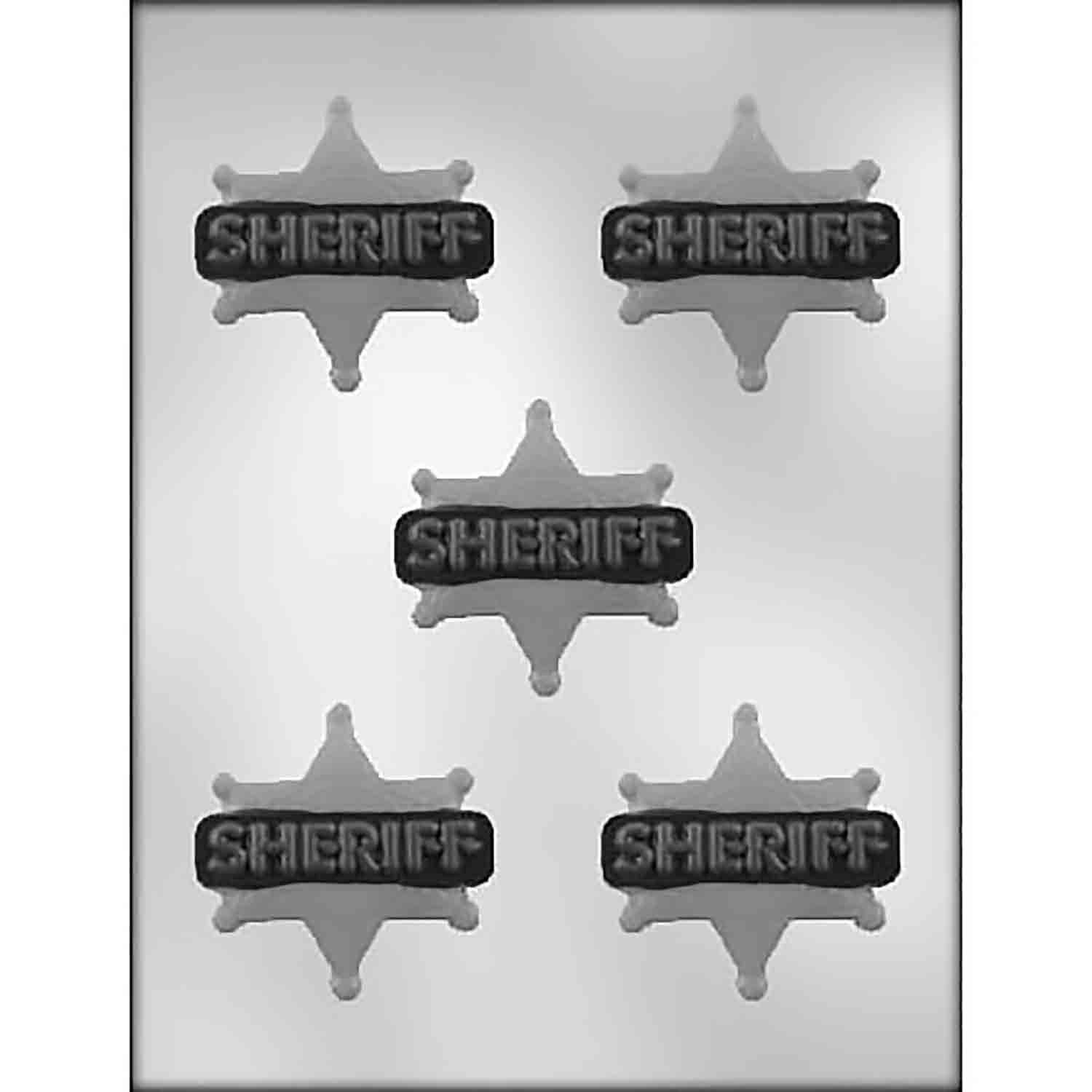 Sheriff Badge Chocolate Candy Mold
