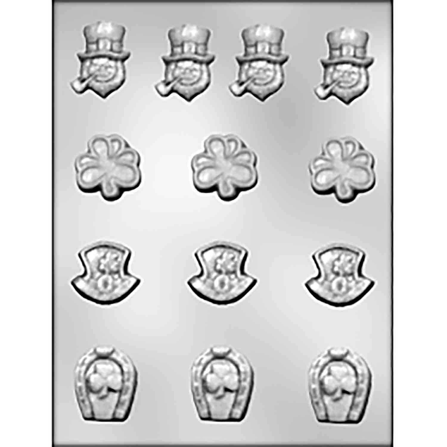St. Patrick's Day Assortment Chocolate Candy Mold