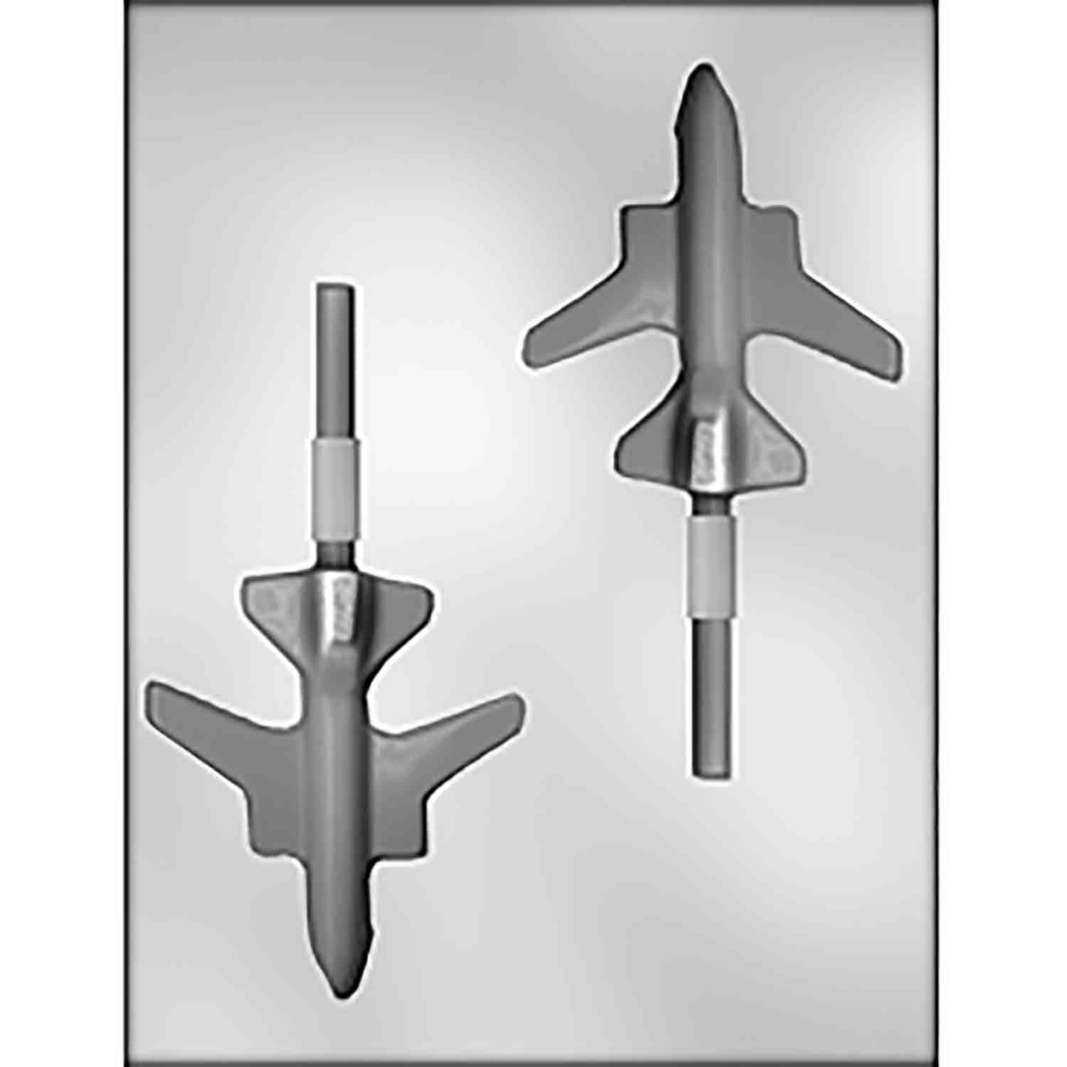 Jet Plane Sucker Chocolate Candy Mold
