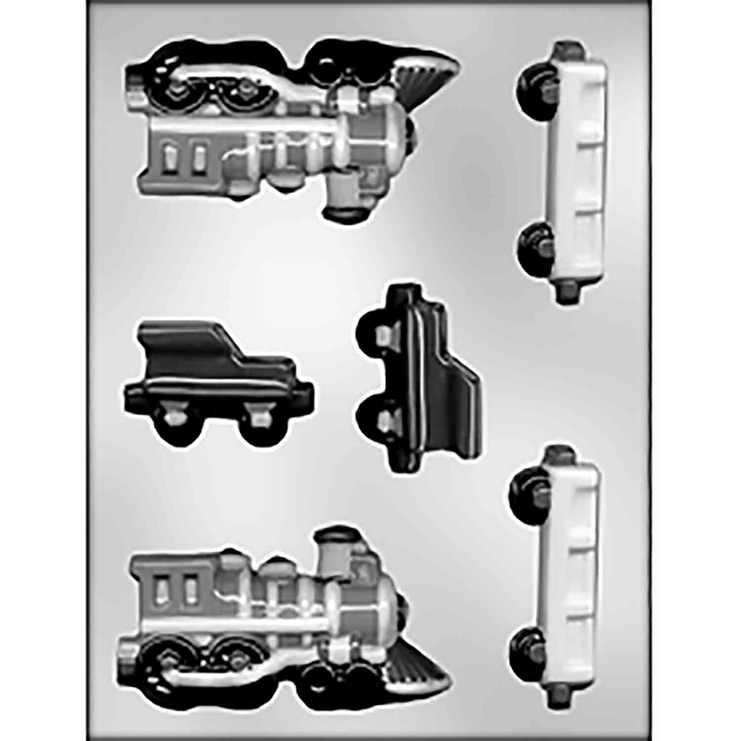 3D Train Chocolate Candy Mold