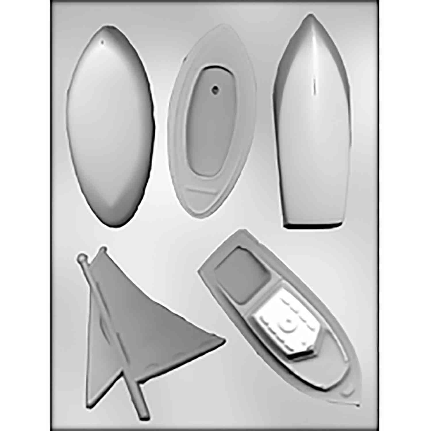 3D Boats Chocolate Candy Mold