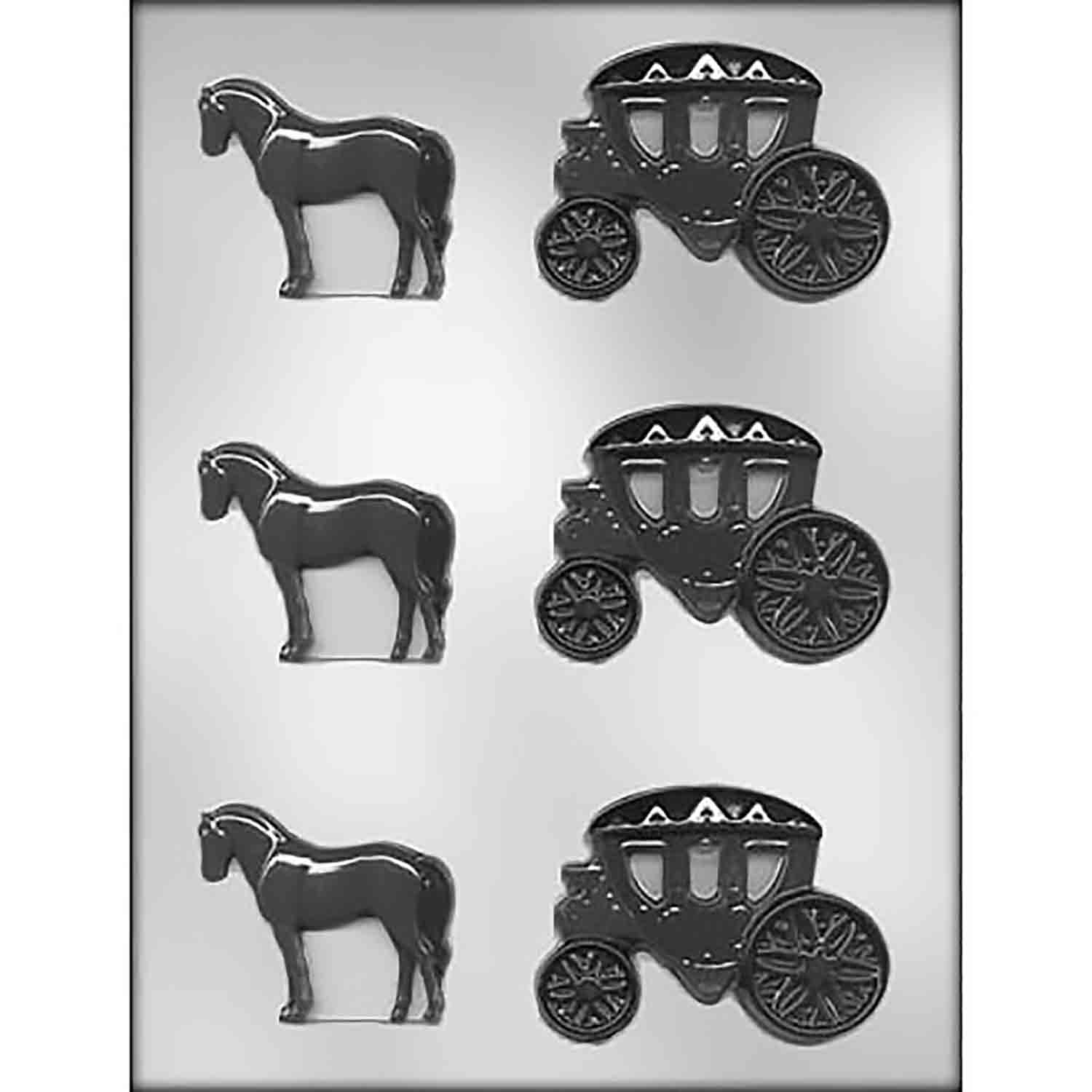 Horse and Carriage Chocolate Candy Mold