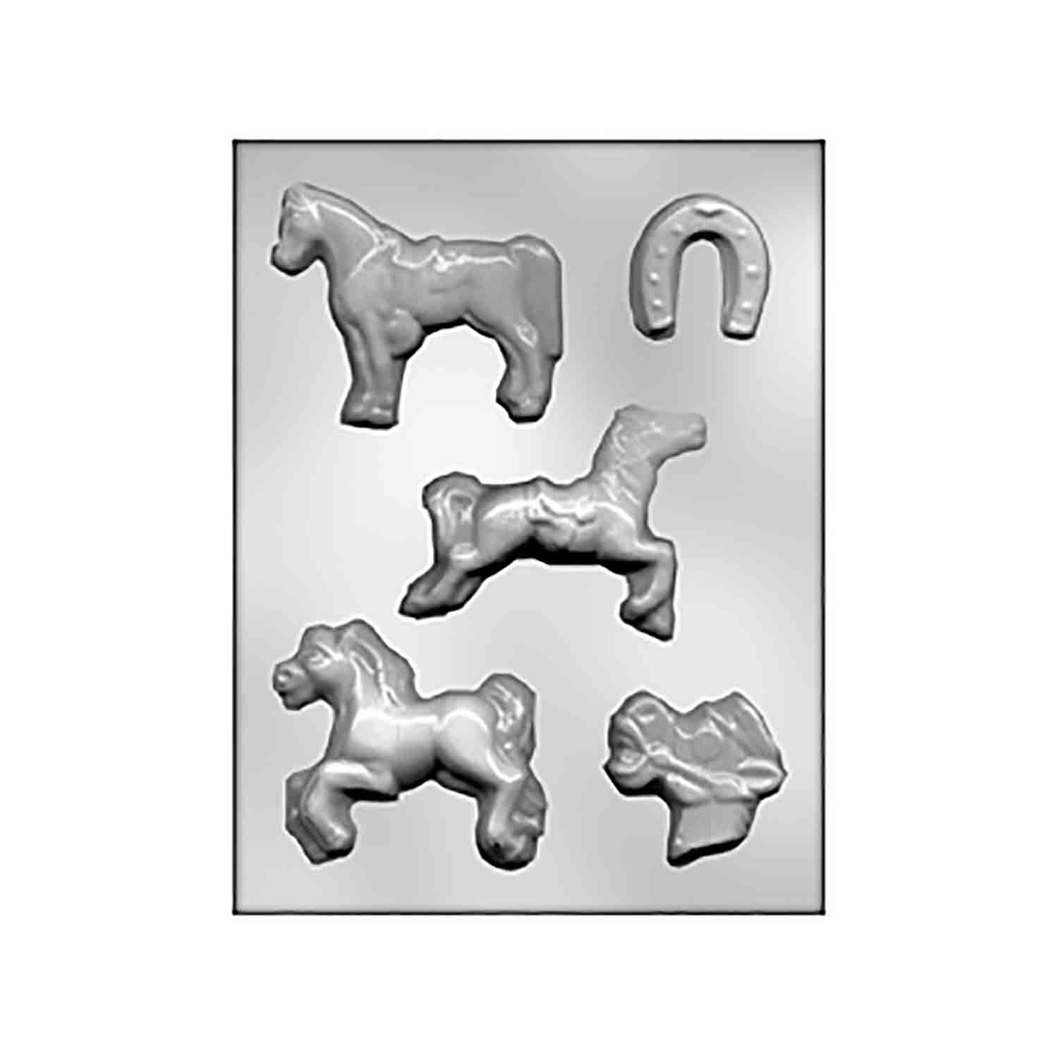 Horses & Horseshoe Chocolate Candy Mold