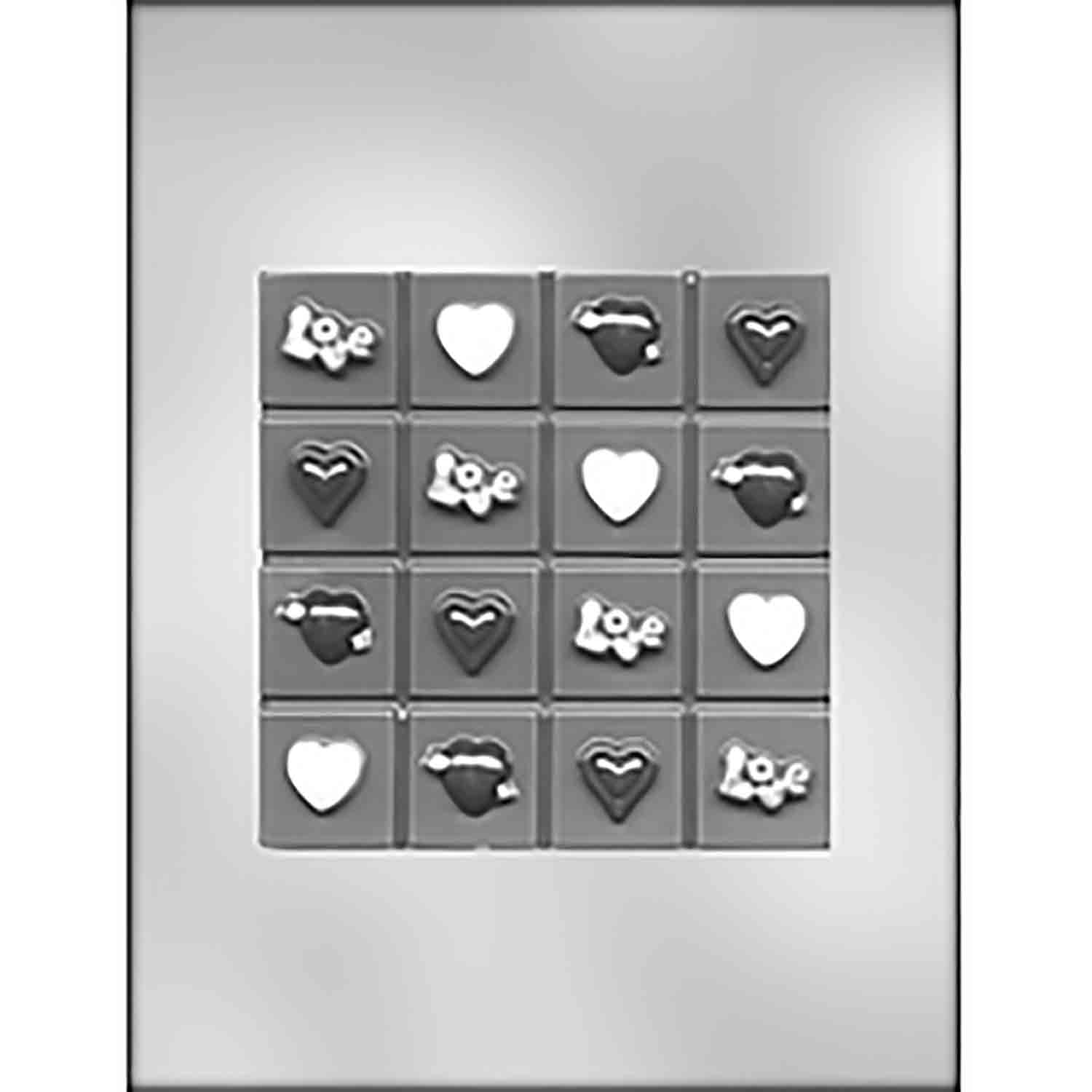 Valentine Break-Up Bar Chocolate Candy Mold