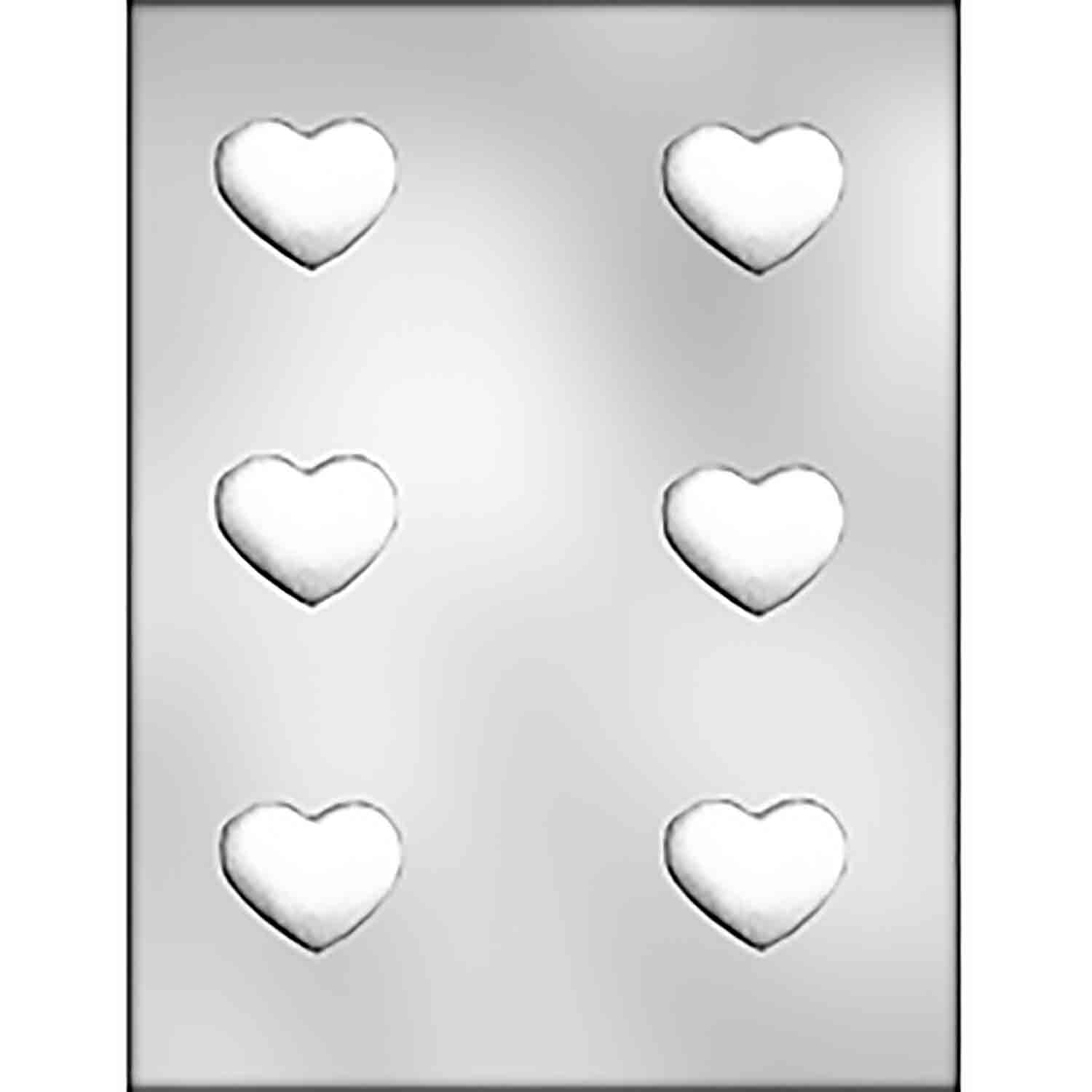 Puffy Truffle Heart Chocolate Candy Mold
