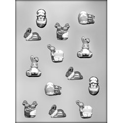 Small Easter Lay-Ons Chocolate Candy Mold