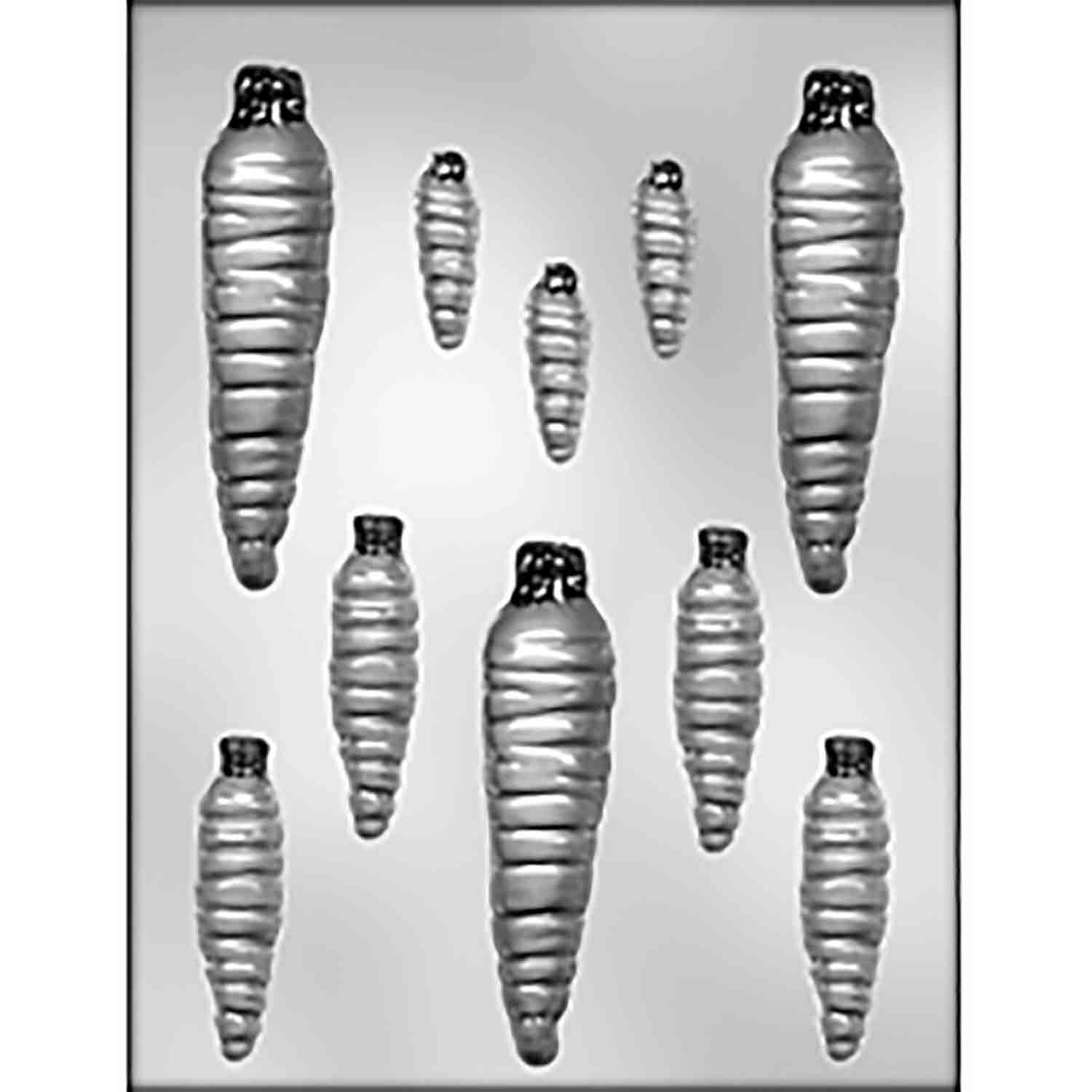 Carrots of Various Sizes Chocolate Candy Mold