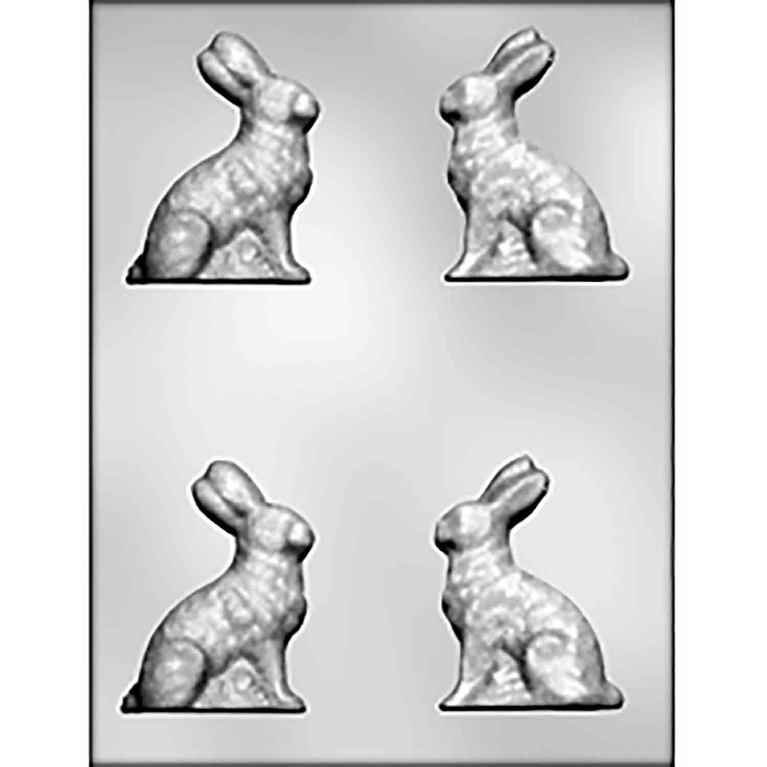 3D Sitting Bunny Chocolate Candy Mold