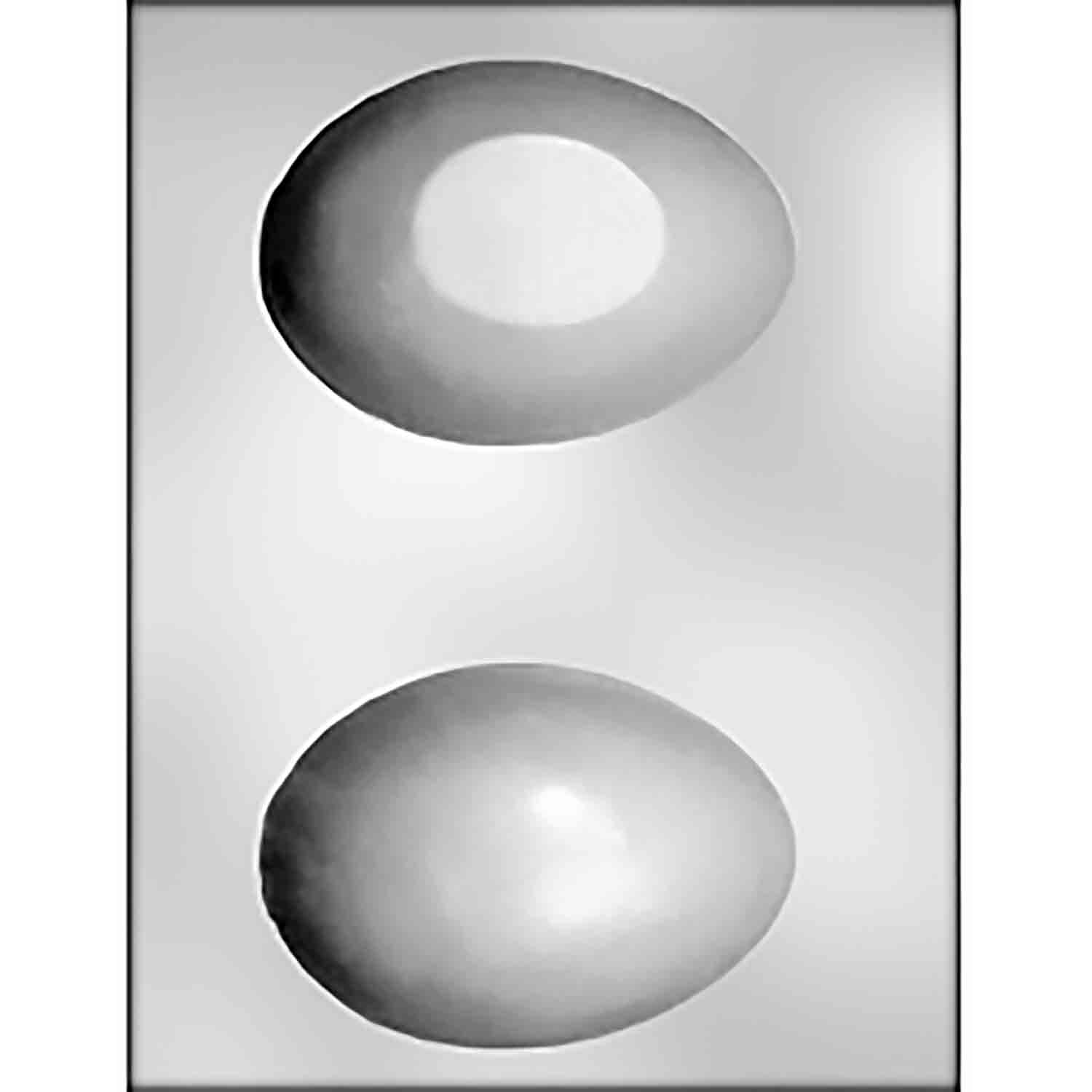 "3D 4 1/2"" Plain Egg Chocolate Candy Mold"