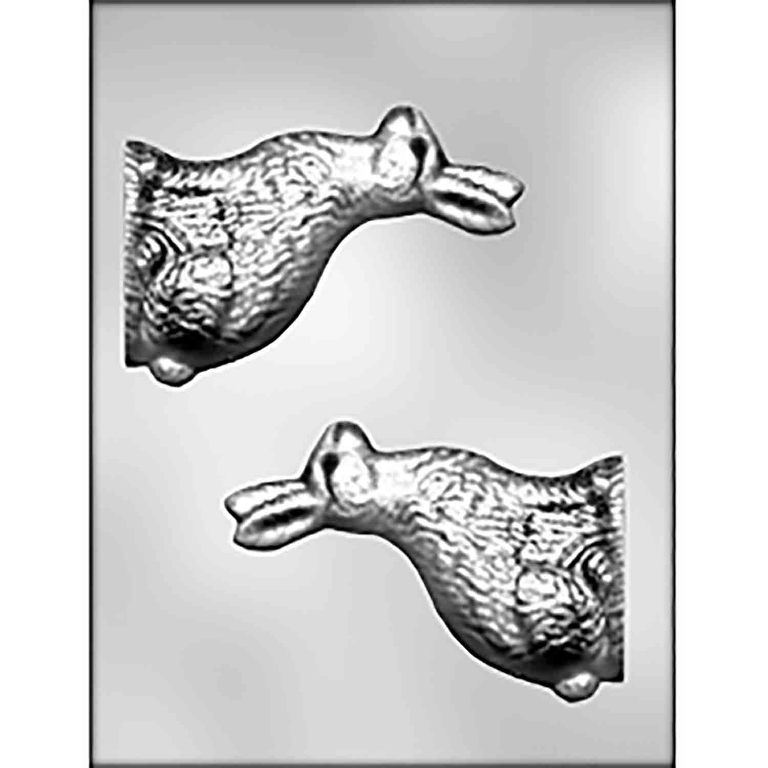 3D Side View Bunny Chocolate Candy Mold