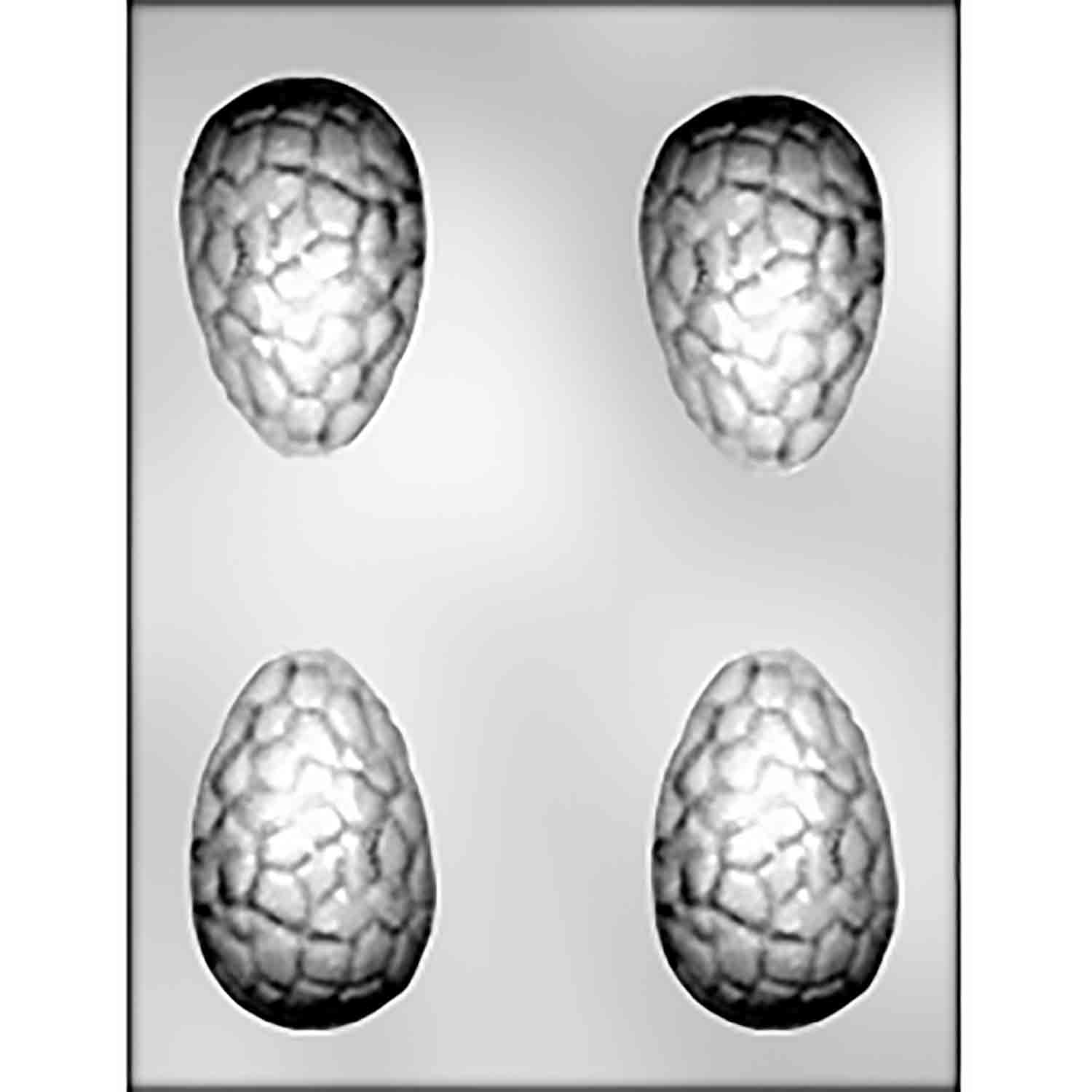 3D Large Cracked Egg Chocolate Candy Mold