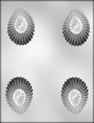 Fluted Egg Chocolate Candy Mold