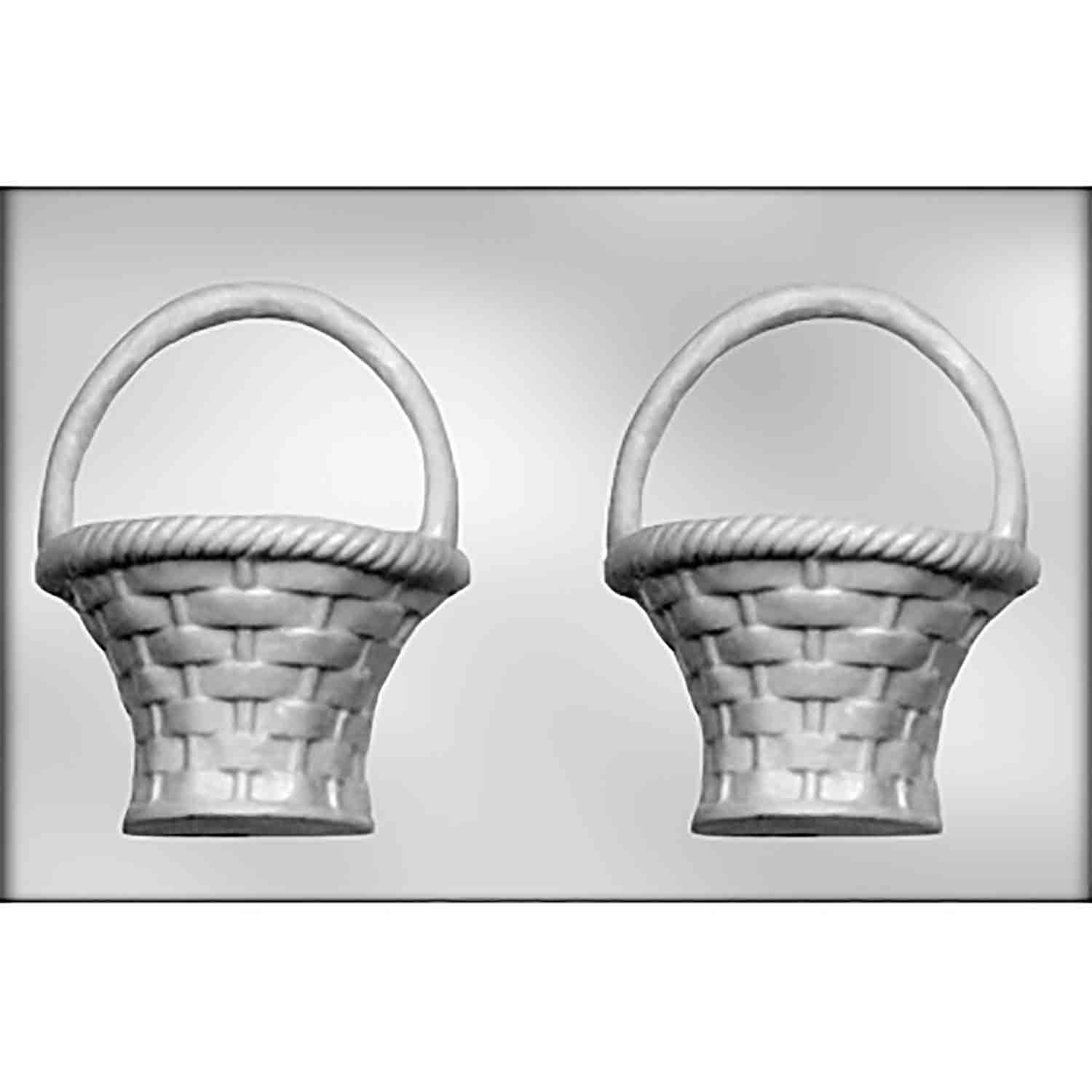 3D Large Basket with Handle Chocolate Candy Mold