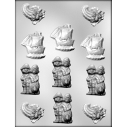 Pilgrim Assortment Chocolate Candy Mold