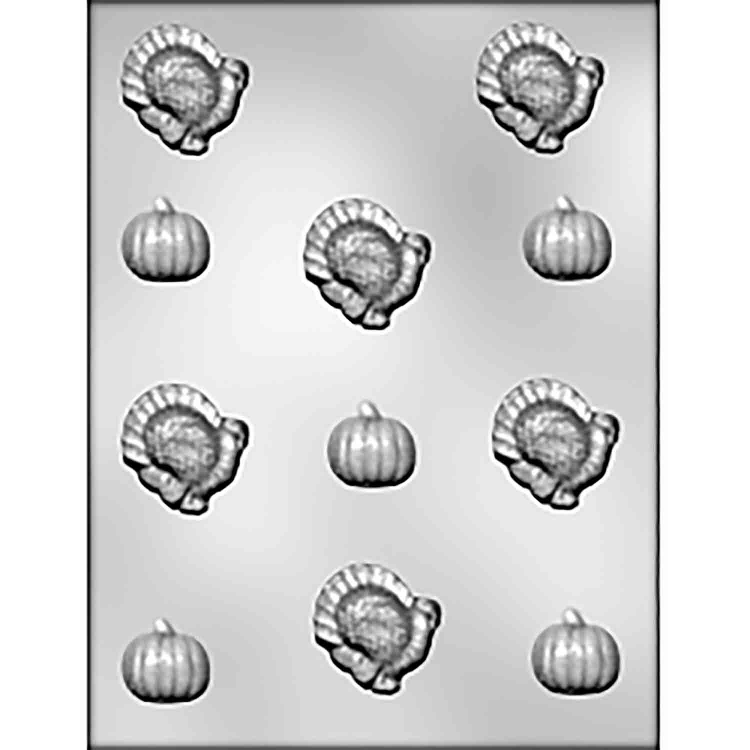 Turkey & Pumpkin Chocolate Candy Mold