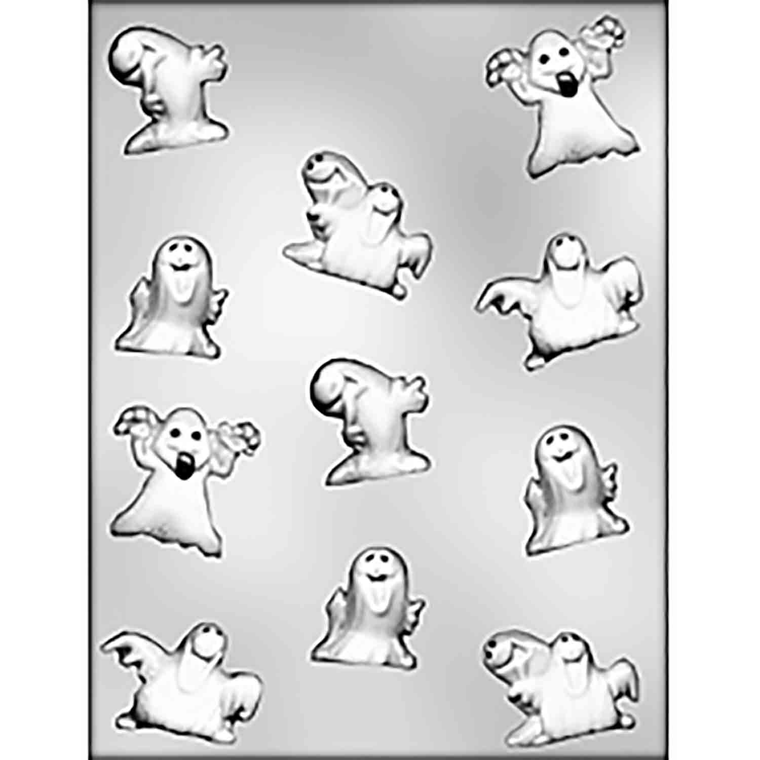 Party Ghosts Chocolate Candy Mold