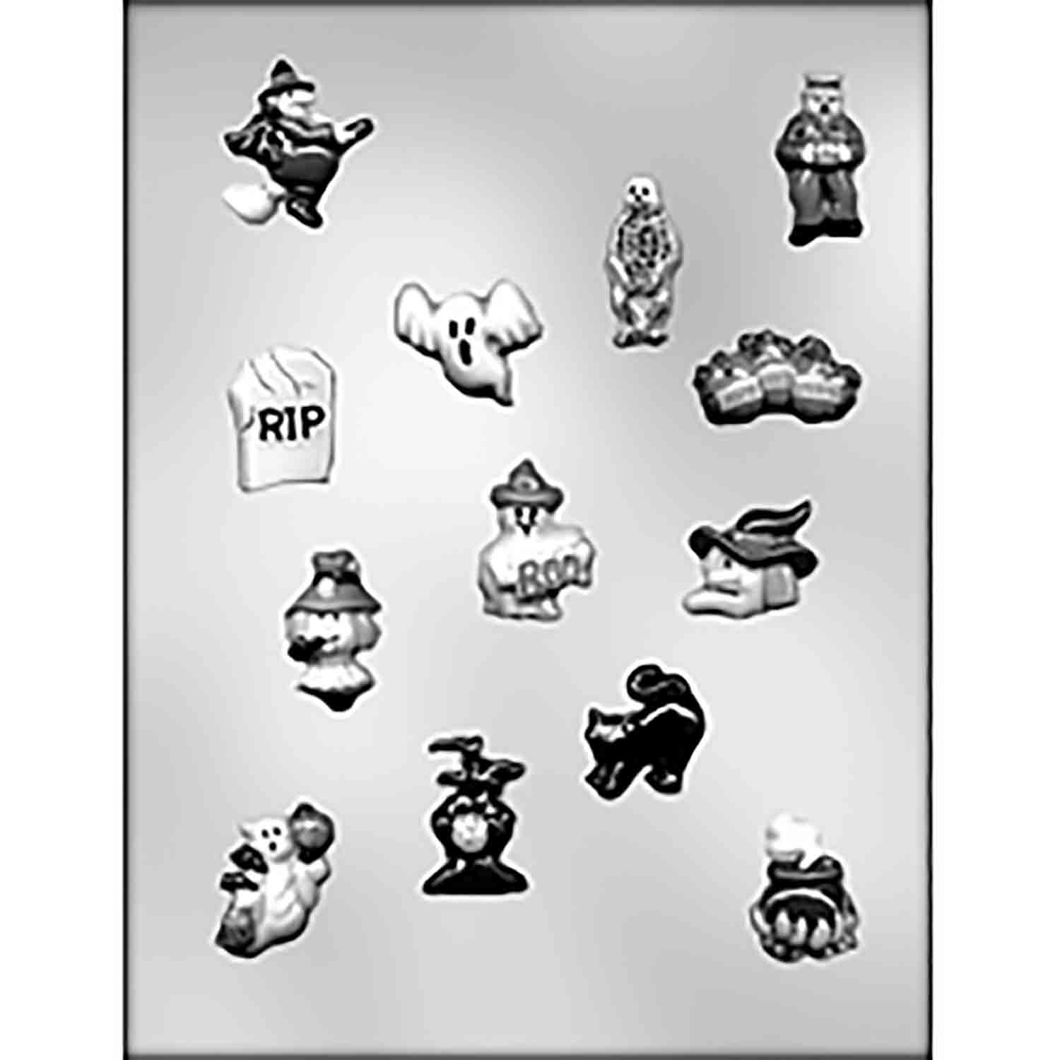 Small Halloween Designs Chocolate Candy Mold