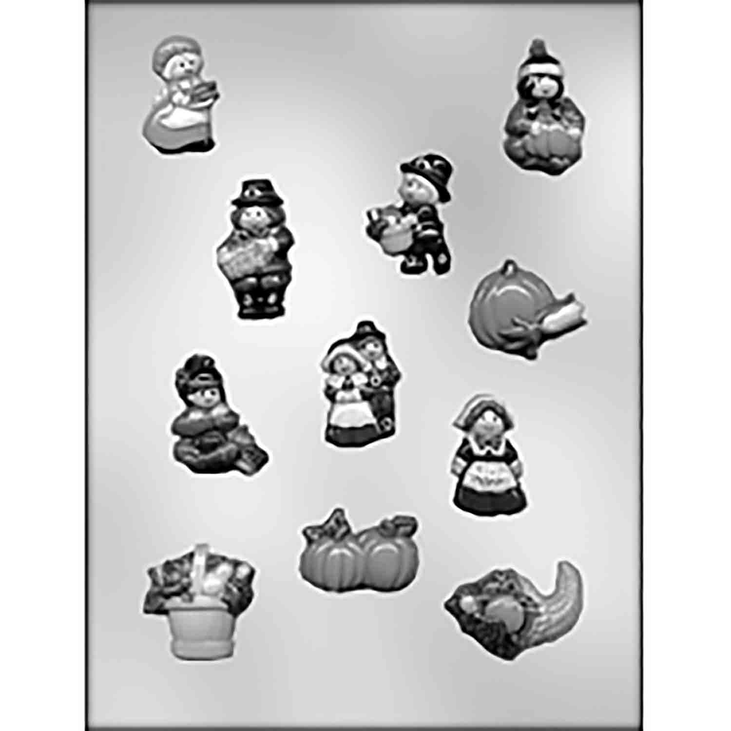 Small Thanksgiving Designs Chocolate Candy Mold