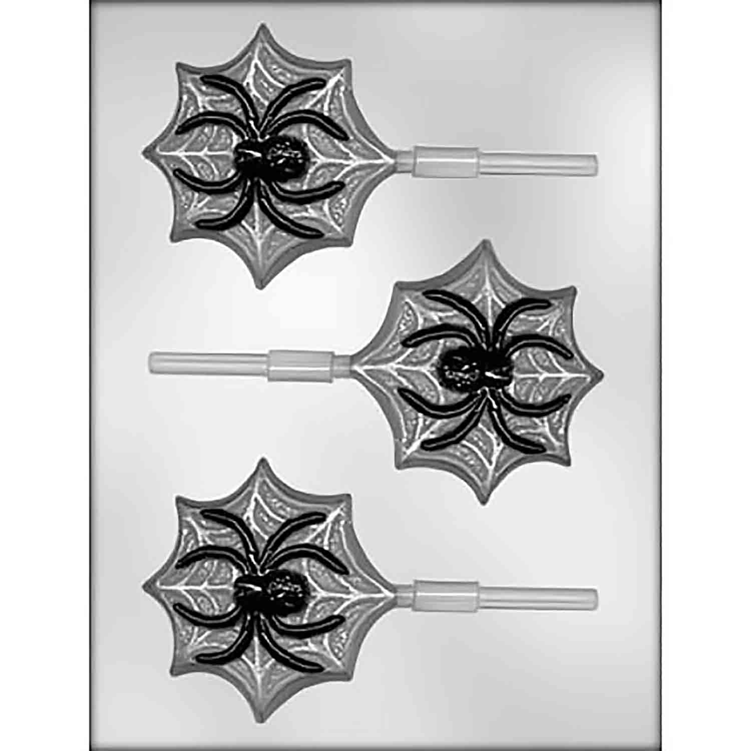 Spider on Web Sucker Chocolate Candy Mold